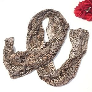 Nordstrom Leopard Silk Scarf Wrap